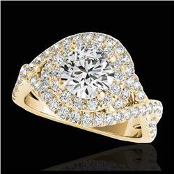 25 ctw Sky Blue Topaz & VS/SI Diamond Earrings 14K Rose Gold