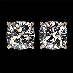 6.50 ctw Sky Blue Topaz & VS/SI Diamond Earrings 18K Yellow Gold