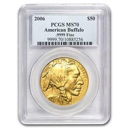 2006 1 oz Gold Buffalo MS-70 PCGS
