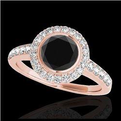 1.08 ctw Intense Fancy Yellow Diamond Art Deco Ring 18K White Gold