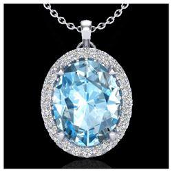 0.75 ctw VS/SI Diamond Solitaire Art Deco Necklace 18K Yellow Gold