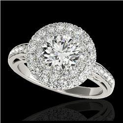 2.85 ctw SI Fancy Blue Diamond Halo Ring 10K White Gold