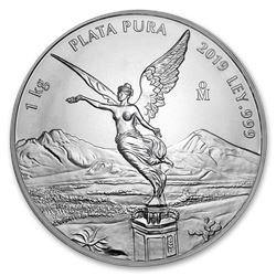 2019 Mexico 1 kilo Silver Libertad BU (In Capsule)