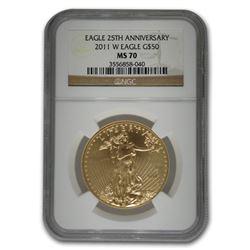 2011-W 1 oz Burnished Gold Eagle MS-70 NGC