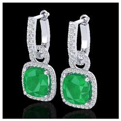 1.55 ctw Fancy Black Diamond Art Deco 3 Stone Ring 18K White Gold