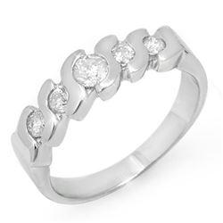 0.72 ctw Tanzanite & Diamond Ring 18K White Gold
