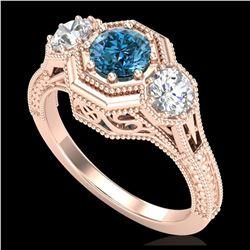 11 ctw Garnet & VS/SI Diamond Necklace 14K Rose Gold