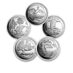 2018 5-Coin 5 oz Silver ATB Set (America the Beautiful)