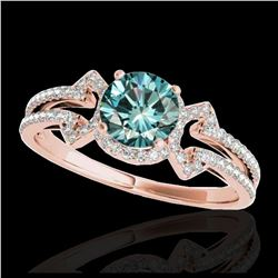 1.55 ctw H-SI/I Diamond Solitaire Halo Ring 10K Yellow Gold