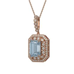 13.42 ctw Opal & Diamond Necklace 14K Yellow Gold