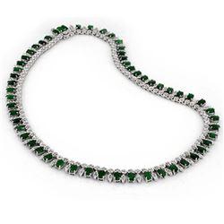 6.09 ctw Multi Color Sapphire & Diamond Earrings 10K White Gold