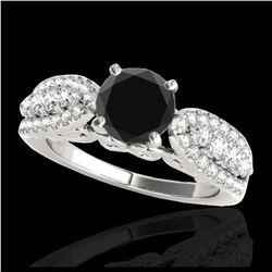 1.15 ctw Fancy Intense Blue Diamond Art Deco Earrings 18K Rose Gold