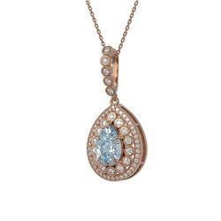 1.75 ctw VS/SI Diamond Necklace 14K Rose Gold