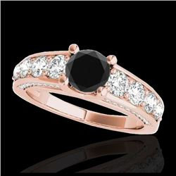 1.50 ctw H-SI/I Diamond Solitaire Halo Ring 10K White Gold