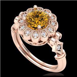 3 ctw VS/SI Diamond Earrings Dangling 14K Rose Gold
