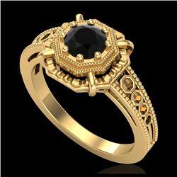 1.20 ctw Fancy Black Diamond Art Deco Necklace 18K Rose Gold