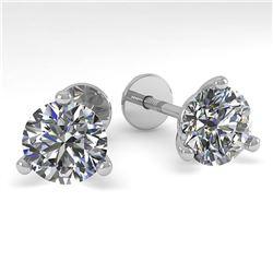 4.78 ctw Amethyst & Diamond Ring 14K White Gold