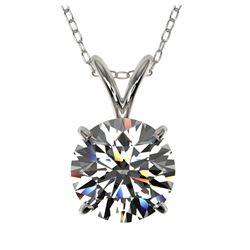 24.4 ctw Cushion Diamond Necklace 18K White Gold