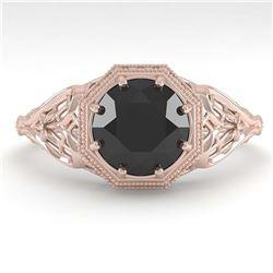 1 ctw Intense Blue Diamond Ring 10K White Gold