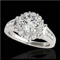 2.11 ctw Intense Blue Diamond Art Deco 3 Stone Ring 18K Rose Gold