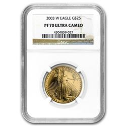 2003-W 1/2 oz Proof Gold American Eagle PF-70 NGC