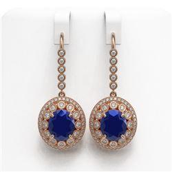 3.10 ctw Blue Sapphire & Diamond Ring 14K White Gold