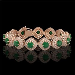 7 ctw Tanzanite & VS/SI Diamond Earrings 14K Yellow Gold