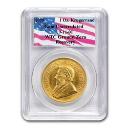 South Africa 1 oz Gold Krugerrand Unc PCGS (WTC\, Random Date)