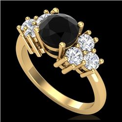 1.55 ctw SI/I Fancy Intense Yellow Diamond Ring 10K Rose Gold