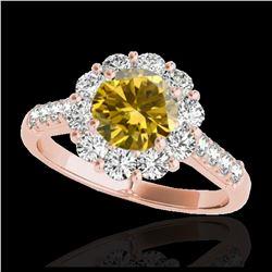 2.25 ctw Tanzanite & VS/SI Diamond Ring 10K Yellow Gold
