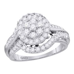 14kt White Gold Round Diamond Single Row Channel-set Wedding Band 1/2 Cttw