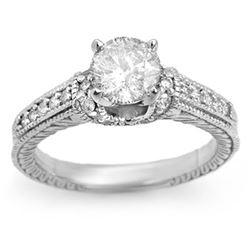 3.75 ctw Tanzanite & Diamond Ring 18K White Gold