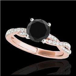 0.53 ctw Fancy Intense Blue Diamond Art Deco Ring 18K White Gold