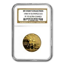 1984-W Gold $10 Commem Olympic PF-70 NGC