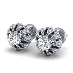 2.05 ctw VS/SI Diamond 2pc Wedding Set Halo 14K White Gold