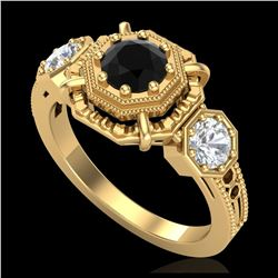 1.40 ctw H-SI/I Diamond Solitaire Halo Ring 10K Rose Gold