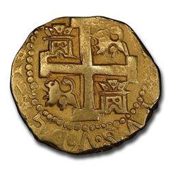 1742-L Peru Gold 8 Escudos Philip V AU-53 PCGS