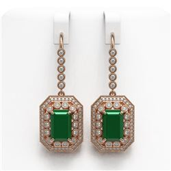 2.5 ctw Princess VS/SI Diamond Art Deco Stud Earrings 18K White Gold