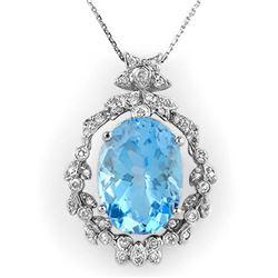 1.22 ctw Ruby & Diamond Ring 18K White Gold