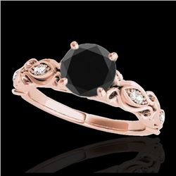 0.56 ctw Intense Blue Diamond Ring 10K Rose Gold