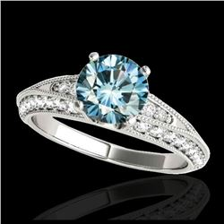 1.60 ctw H-SI/I Diamond Bypass Solitaire Ring 10K White & Yellow Gold