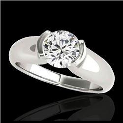 1.93 ctw Princess VS/SI Diamond Necklace 18K White Gold
