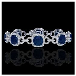 40.37 ctw Canary Citrine & Diamond Bracelet 14K Rose Gold