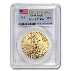 2014 1 oz Gold American Eagle MS-70 PCGS (FS)