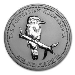 2005 Australia 10 oz Silver Kookaburra BU