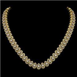 83.82 ctw Tanzanite & Diamond Necklace 14K Yellow Gold