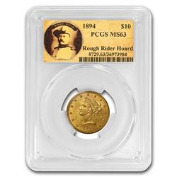 1894 $10 Liberty Gold Eagle MS-63 PCGS (Rough Rider)