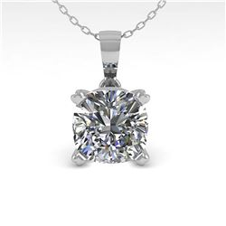 1 ctw VS/SI Oval Cut Diamond Necklace 18K White Gold