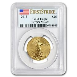 2013 1/2 oz Gold American Eagle MS-69 PCGS (FS)
