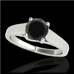 0.25 ctw Diamond & Golden Pearl Necklace 18K White Gold